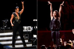 Live Performance: Alicia Keys Brings out Gabby Douglas and Nicki Minaj While perfroming Girl on Fire