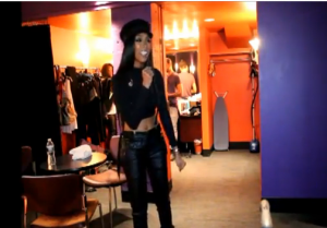 Backstage Report: Brandy Sings 'His Eye Is On The Sparrow' While Warming Up Before Her Performance