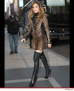 Rock it or Knock it: Jennifer Lopez Spotted in New York Rocking all Leopard Everything