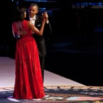 Michelle Obama Wears a Red Jason Wu Dress to the Inauguration