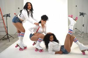 Trina and Teyana Taylor Poses for KA'OIR beauty line Ad Campaign