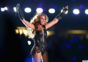 Beyonce Performs During Super Bowl Halftime Wearing a Rubin Singer Bodysuit
