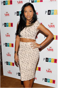 Melanie Fiona in a Nasty Gal Crop Top and Pencil for Paper Magazine Event
