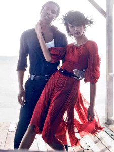Chanel Iman and ASAP Rocky For Vogue 2014