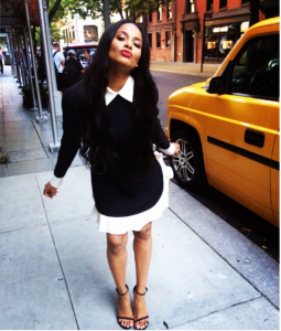 Instagram Pretty:Ciara in a Black and White Valentino Ruffled Dress