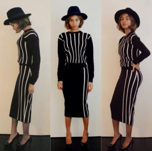 Styles To Rock: Beyonce's Joseph Women's Striped Knit Sweater